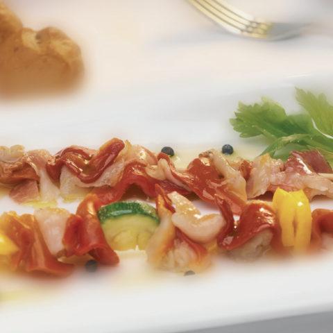 ricetta-spiedino-di-fasolari-misto-con-verdure-e-guanciale